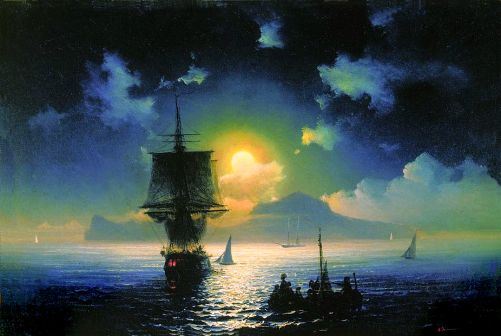 A Lunar night on Capri