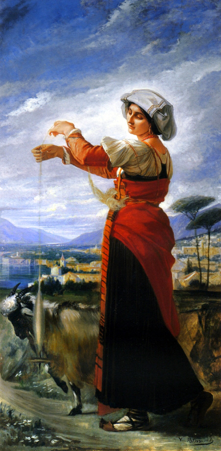 Contadina with a Goat