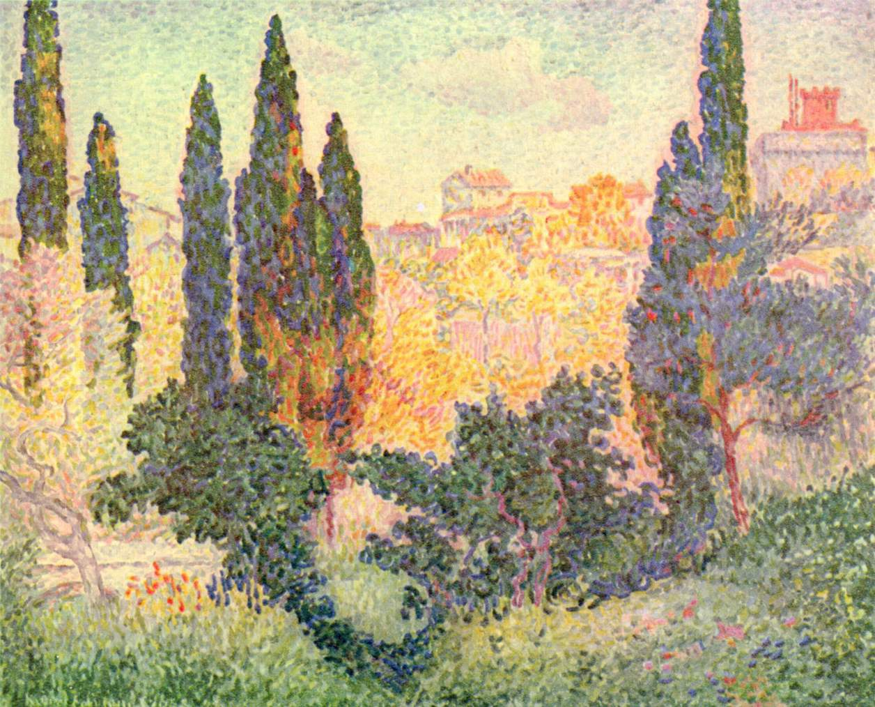 Cypresses in Cagnes