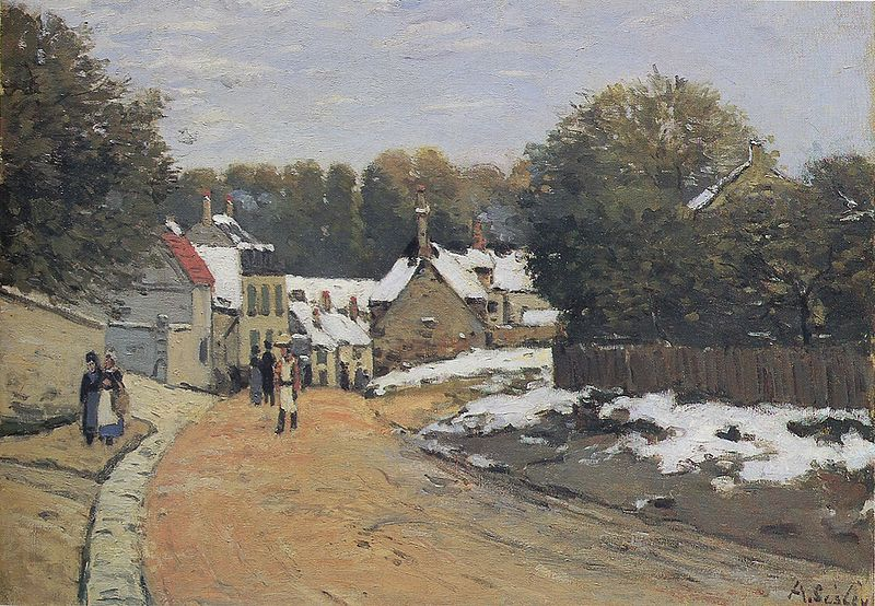 Early Snow at Louveciennes