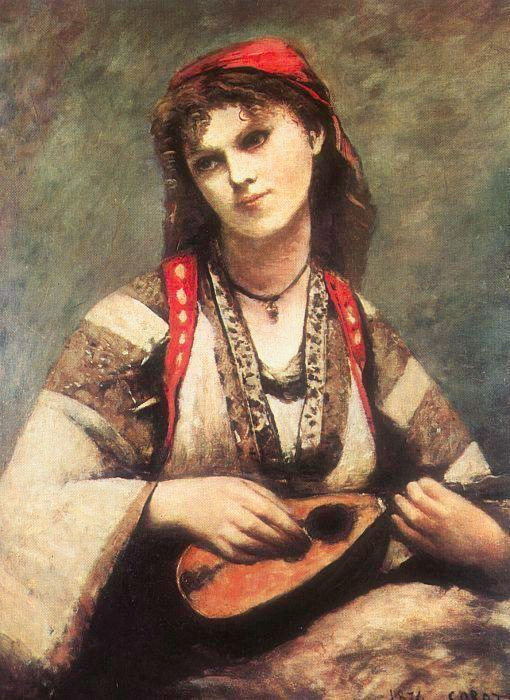 Gypsy with a Mandolin | Jean-Baptiste-Camille Corot