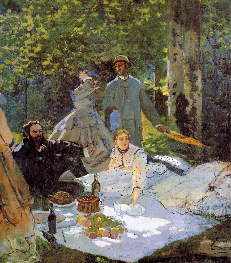 Luncheon on the Grass, Center Panel