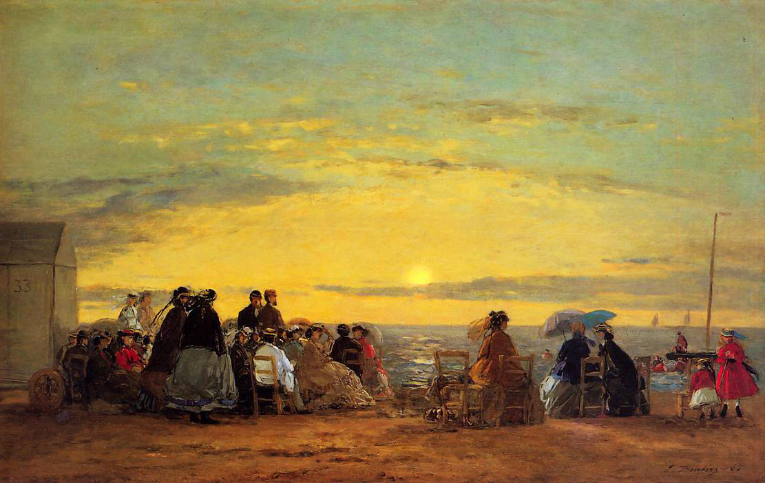 On the Beach, Sunset