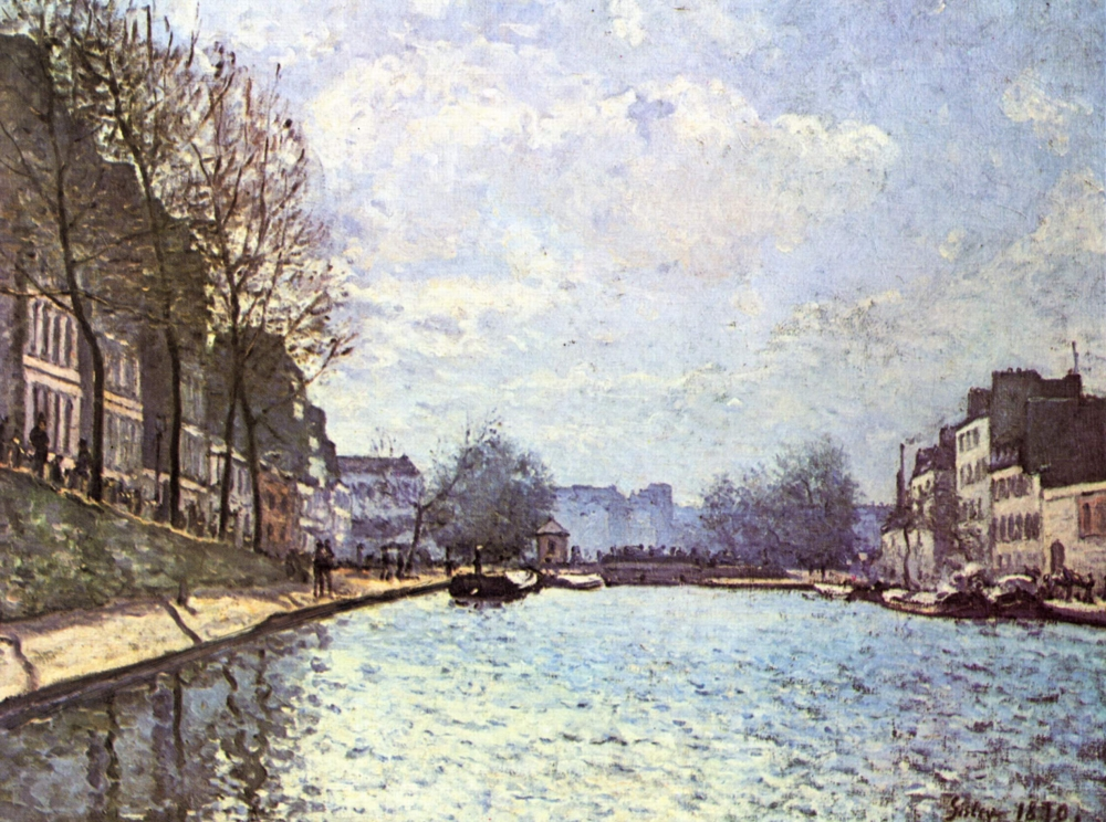 View of the Saint-Martin Canal, Paris
