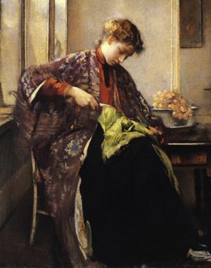 A Girl Mending