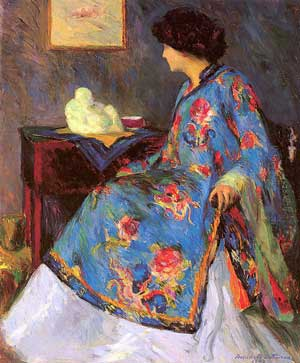 Lady in a Chinese Silk Jacket